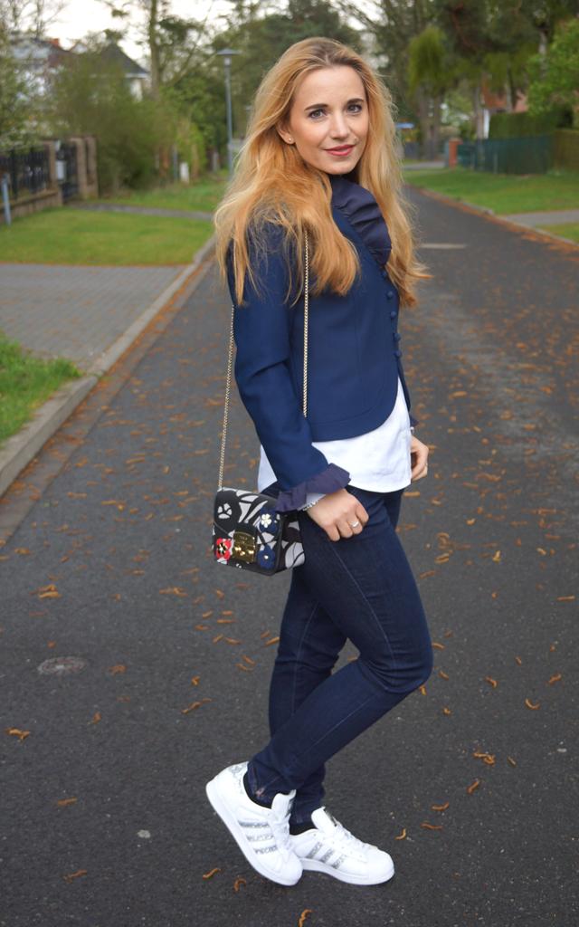 Outfit Vintage Blazer blau 03