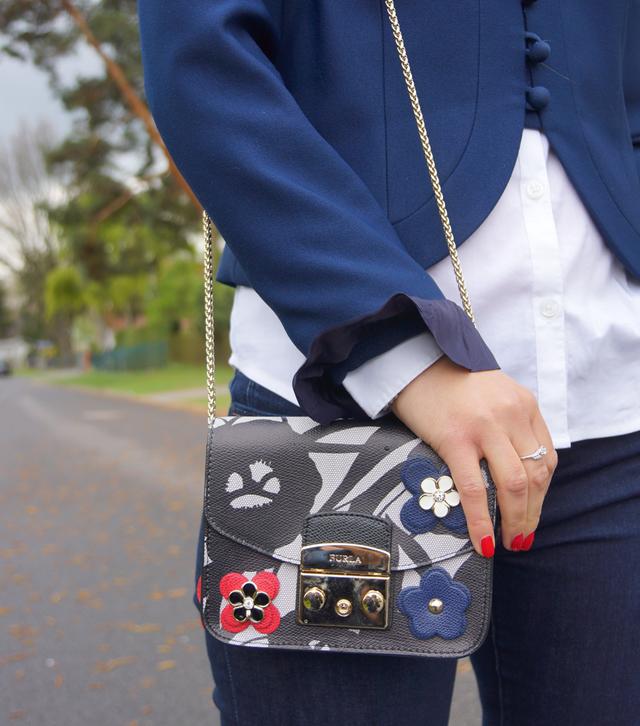 Outfit Vintage Blazer blau 05