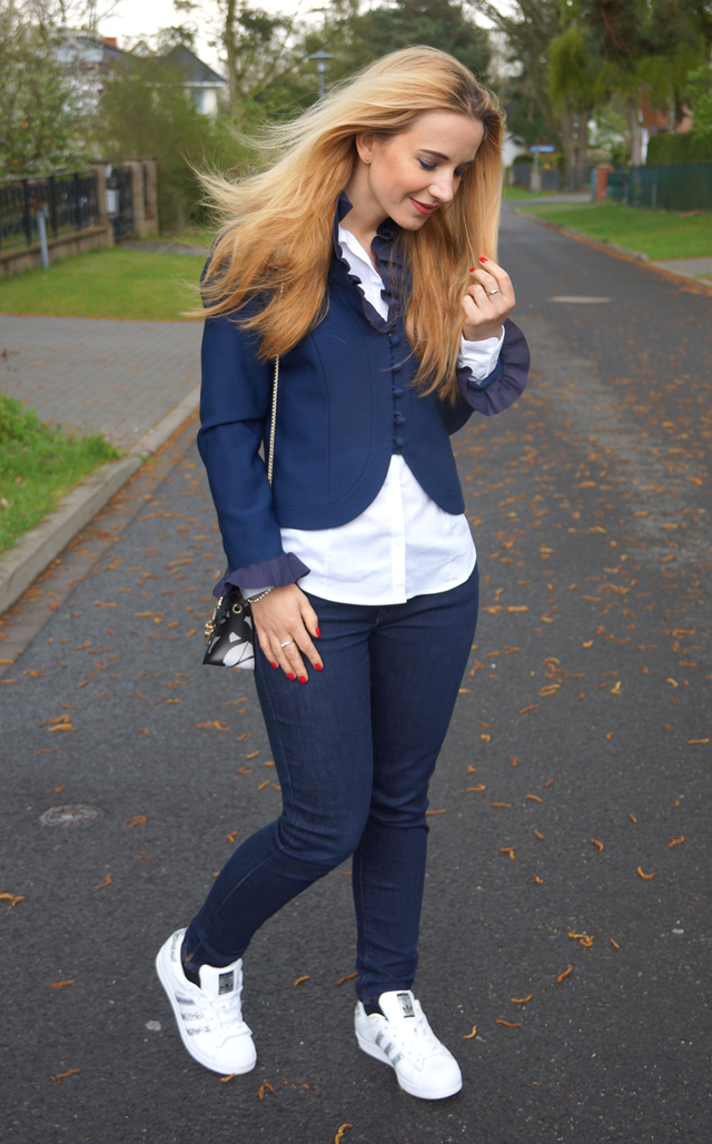 Outfit Vintage Blazer blau 06