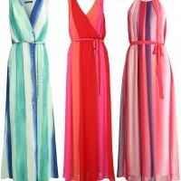 Maxikleider Sommerkleider Farbverlauf