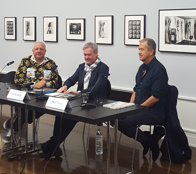 Pressekonferenz mit Mario Testino in Berlin
