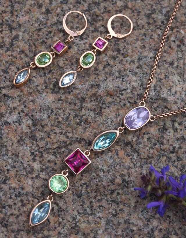 jewels by Leonardo Schmuck Set Confetti Kette Ohrhänger