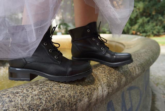 Outfit Biker Boots und Tüllrock 05