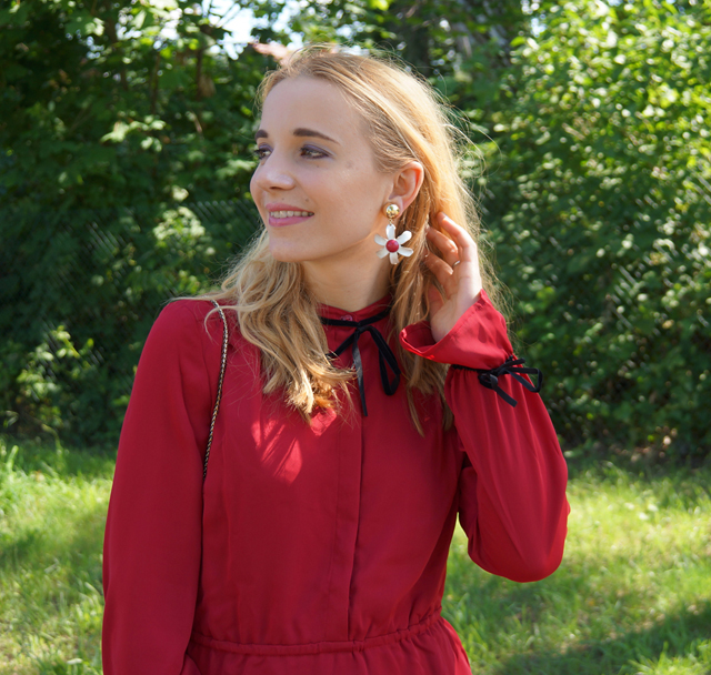 Outfit mint & berry Kleid rot 06
