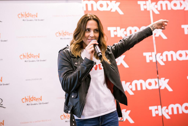 Melanie C and TK Maxx World Childrens Day 02