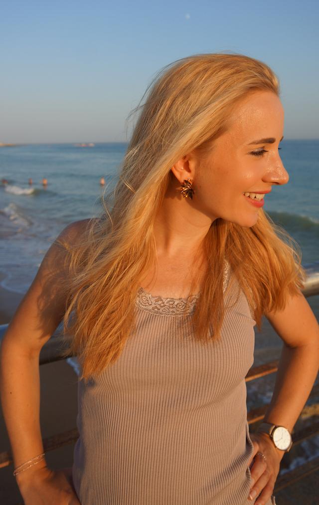 Outfit Weiße Sommer-Culotte & Tanktop mit Spitzenbesatz 3