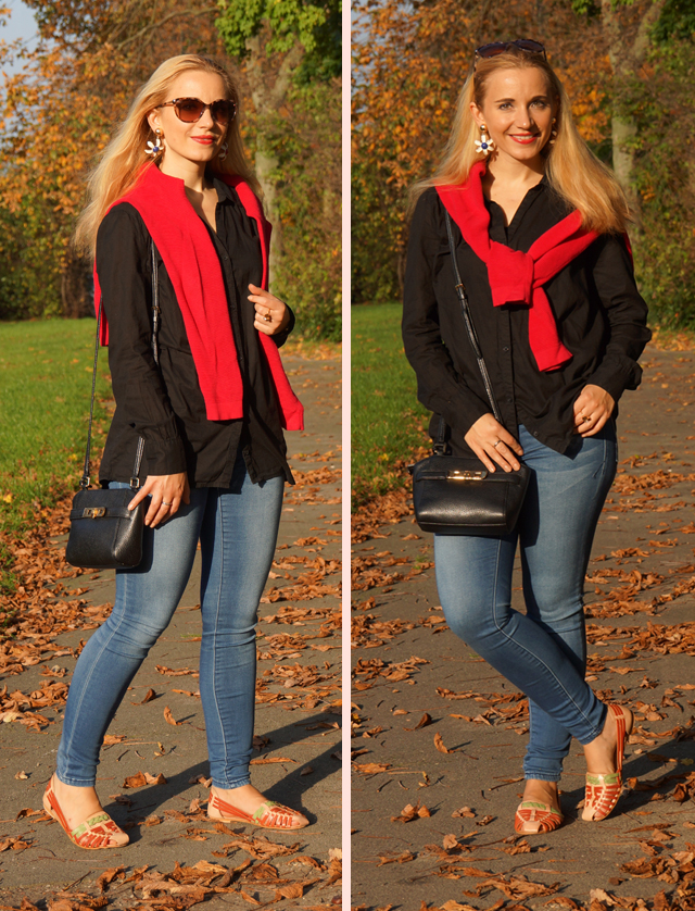 Outfit Outfitkombination Rot und Schwarz 02
