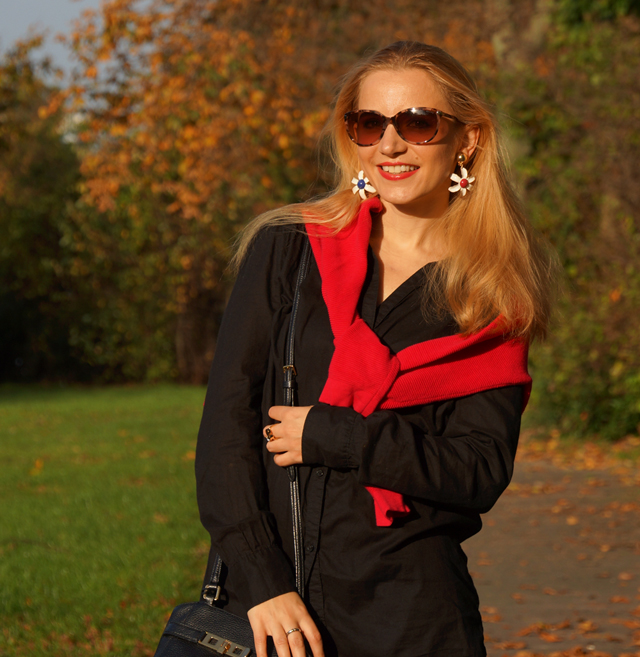 Outfit Outfitkombination Rot und Schwarz 03