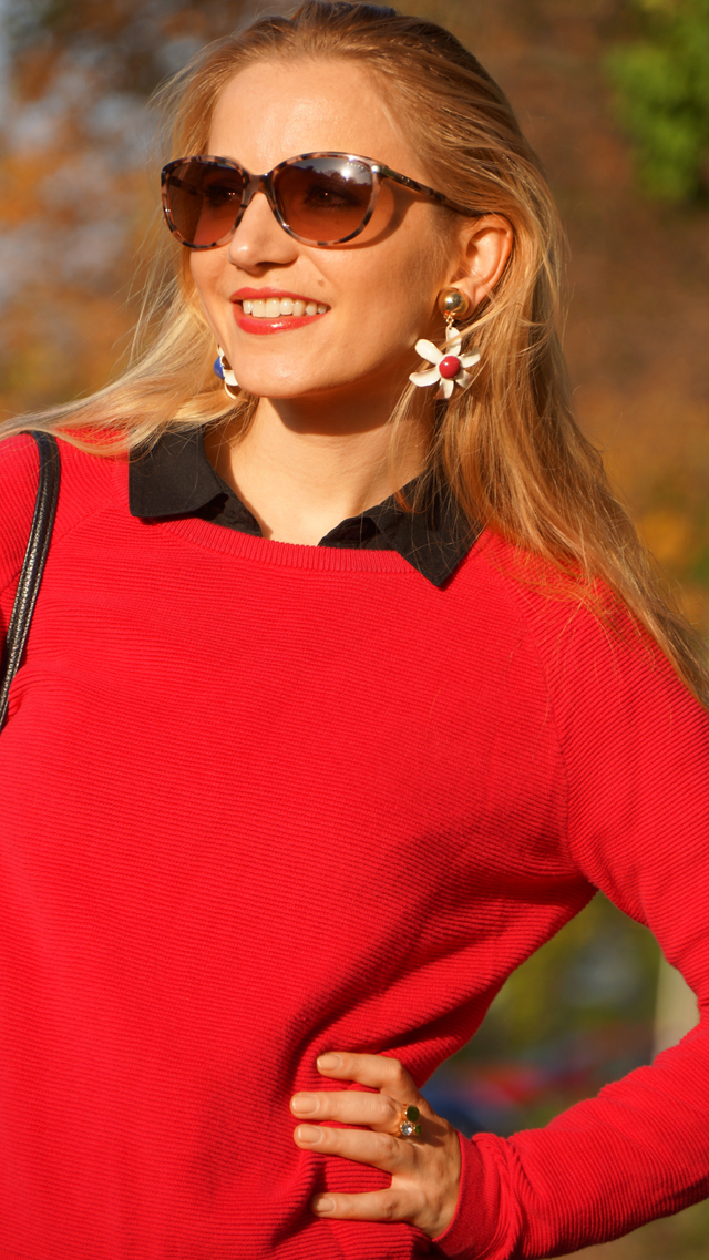 Outfit Outfitkombination Rot und Schwarz 06