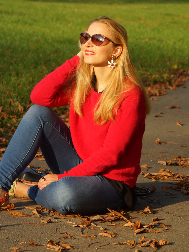Outfit Outfitkombination Rot und Schwarz 07