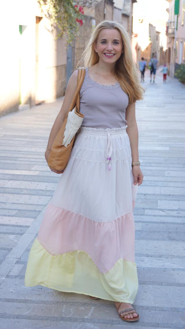 Outfit abury Rabbia Camel Leder Shopper Tasche 02