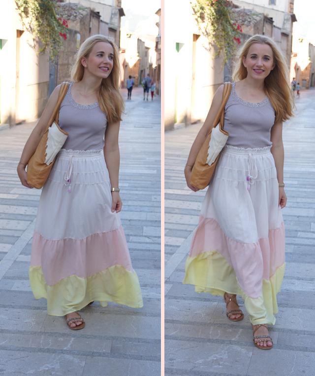 Outfit abury Rabbia Camel Leder Shopper Tasche 03