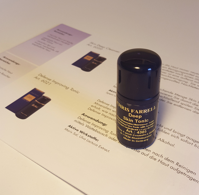 Deep Skin Tonic Chris Farrell Probe Produkt
