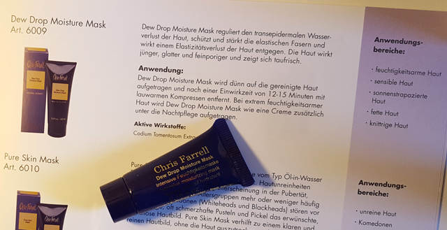 Dew Drop Moisture Mask Chris Farrell Probe Produkt