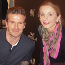 Marie mit David Beckham
