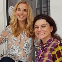 Marie mit Andrea Bury