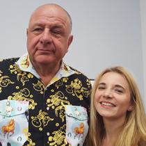 Marie mit Jean Pigozzi