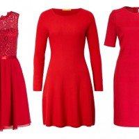 Rote Kleider für Weihnachten