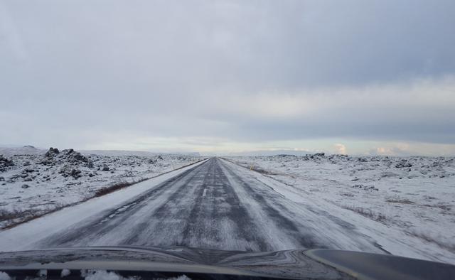 Auf den Straßen Island Winter