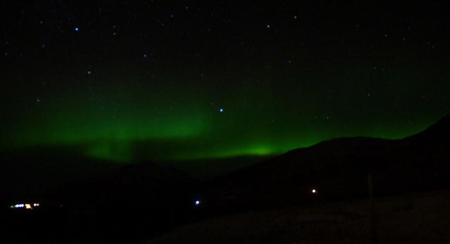 Island Nordlichter am Vatnajokull 01