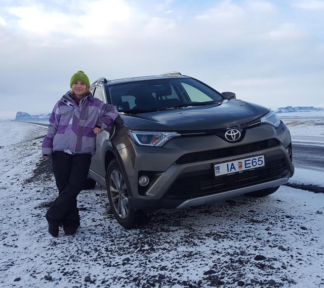 Mietwagen auf Island im Winter