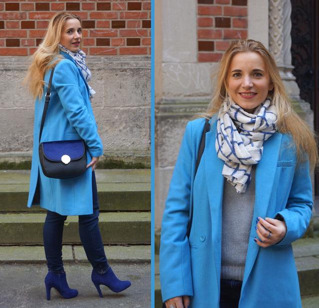 Outfit Blau machen - blauer Mantel 03