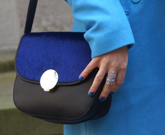 Outfit Blau machen - blauer Mantel 04