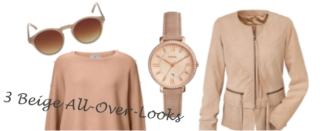So stylish sind Beige All-Over-Looks