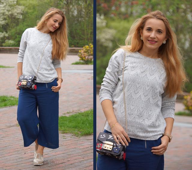 Outfit Blaue Culotte & Furla Tasche 05