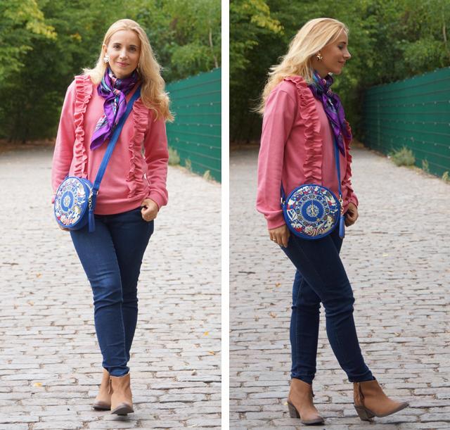 Outfit Rüschenpulli & Alice-Tasche 04