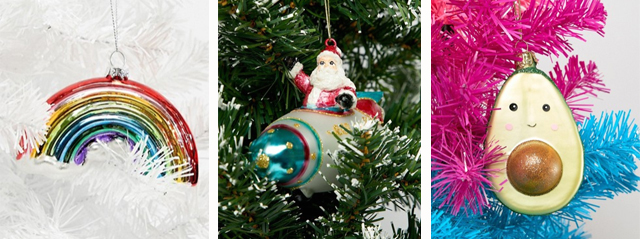 Ausgefallene & bunte Weihnachtsbaumdeko 01