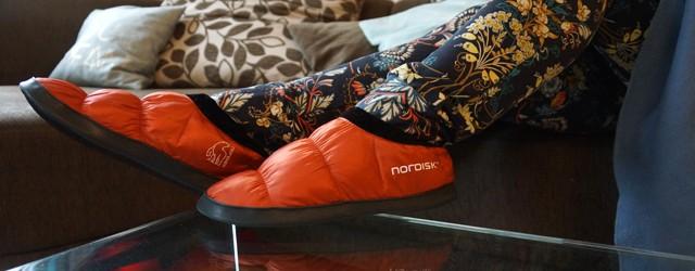 Nordisk Mos Down Shoe Hausschuh 01