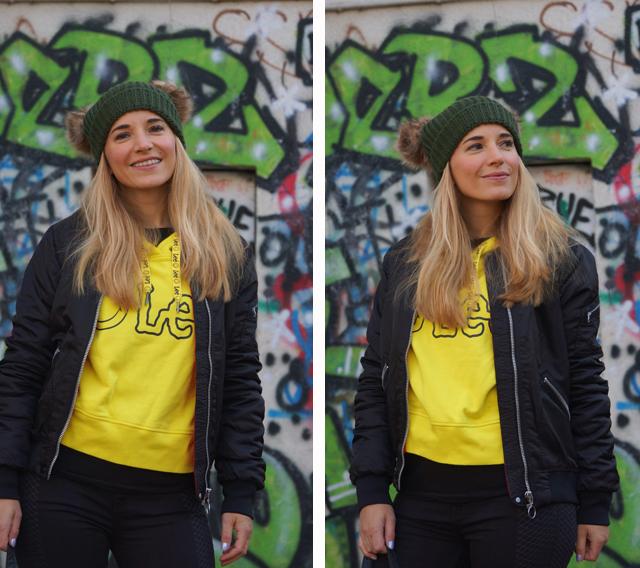Outfit Lee Smiley & zwei Bommel-Mütze 02