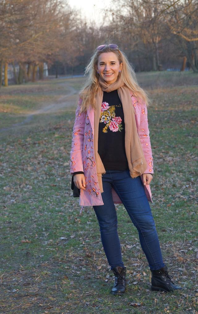 Outfit Blumenstickereien - Pre Spring Outfit 08