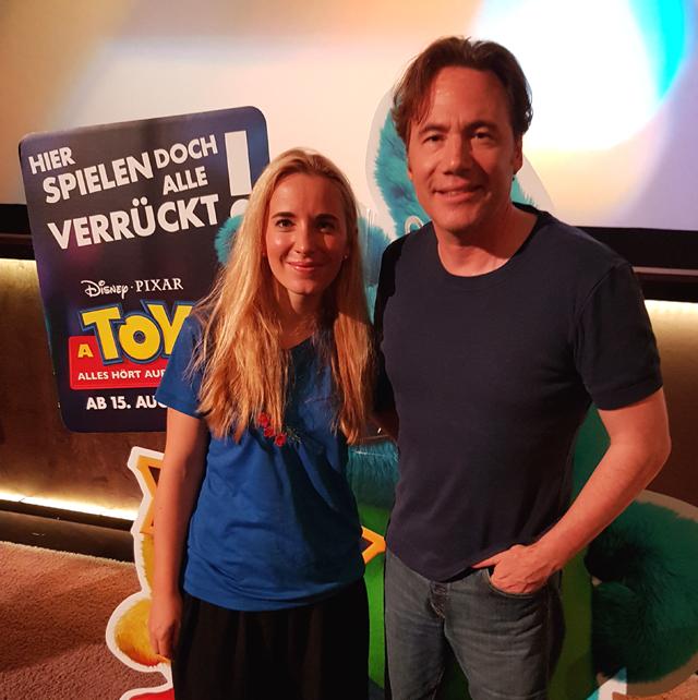 Michael Bully Herbig spricht Woody in Berlin 01